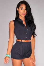 macacao-feminino-2017-summer-Black-Button-font-b-Down-b-font-Belted-Romper-Jumpsuit-LC60424-sexy